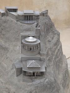 Model of Massada Fortress and Palace