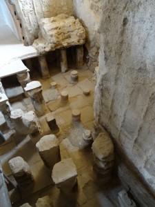 Roman underfloor heating in bath house
