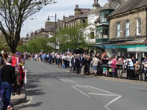 Ilkley is a popular place to visit but it's not usually this crowded!