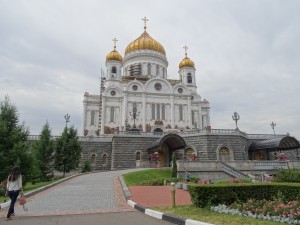 The Cathedral of Christ the Savior; built in four years as a faithful reproduction of its predecessor destroyed by Stalin