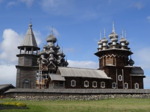 Kizhi Cathedral with 22 Domes - everything made in wood
