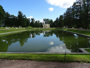 One of the lakes in Catherine Palace grounds