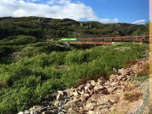 From the White Pass Railway train (built in late 19th century)