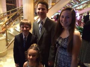 Formal Night with four wonderful grandchildren