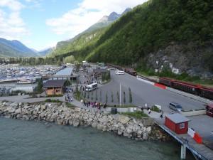 Skagway, Alaska: start of the White Pass Railway to the Yukon